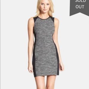 Eileen Fisher Dresses - Eileen Fisher Sleeveless Colorblock Tweed Dress M
